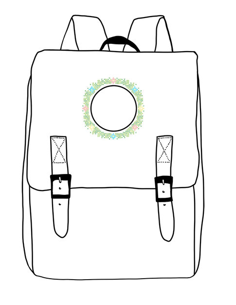 Broderikit for ryggsäck Midsummer