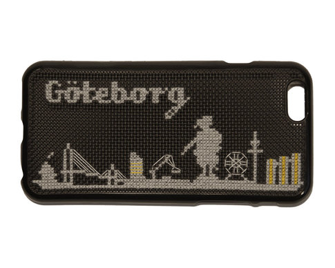 iPhone 6 embroidery kit - Göteborg skyline