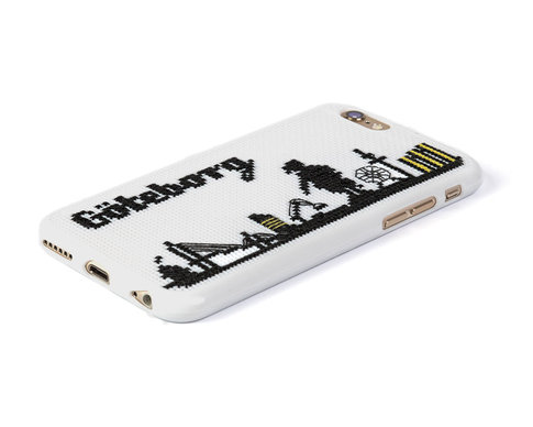 iPhone 6 embroidery kit - Göteborg skyline