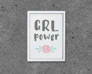 Grl power - Embroidery kit Aida