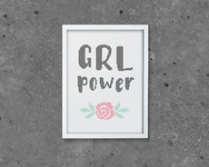 Embroidery kit Aida - Grl Power