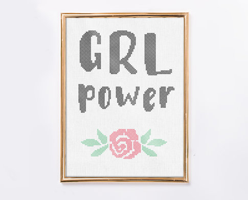 Broderikit Aida - Grl Power