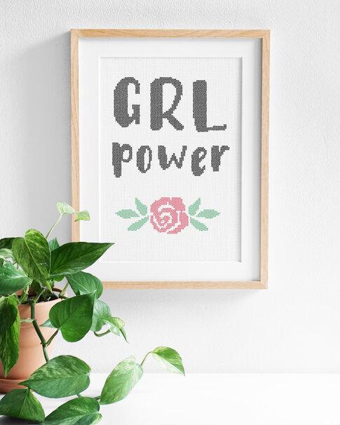 Broderikit Aida - Grl Power