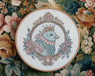 Embroidery kit Aida - Queen of the skies