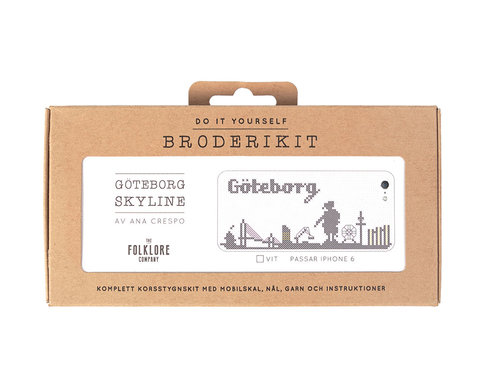 iPhone 5 embroidery kit - Göteborg skyline