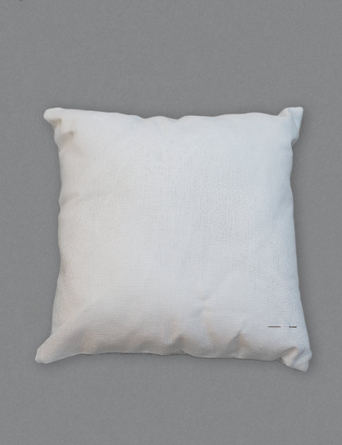 Pillow cover with aida fabric to embroider at