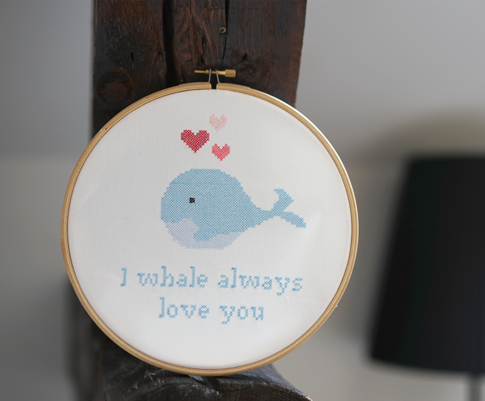 Embroidery kit Aida –Oh, whale