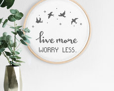 Embroidery kit Aida - Worry less