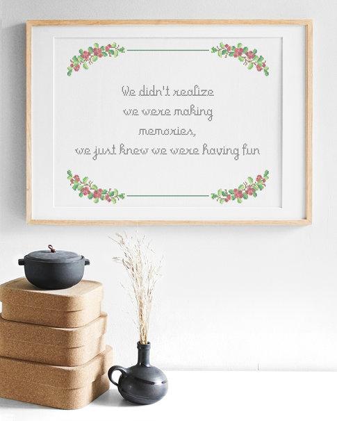 Making memories / Monica Z - Embroidery kit Aida